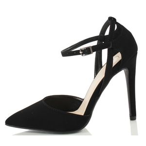 Jonas Black Pointy Toe Cut Out Side Ankle Strap